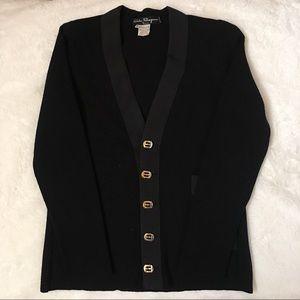 Salvatore Ferragamo Vintage Black Cardigan